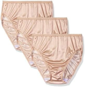 Shadowline Women's Panties-Hi Cut Nylon Brief (3 Pack)