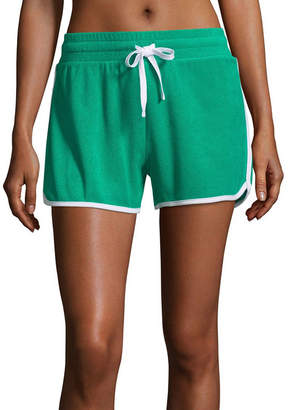 Flirtitude Terry Cloth Pull-On Shorts-Juniors