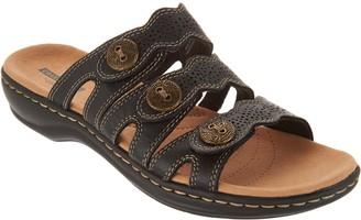 Clarks Leather Lightweight Triple Adjust Sandals - Leisa Grace