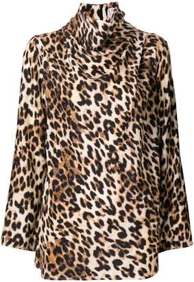 Alberto Biani leopard print blouse