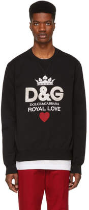 Dolce & Gabbana Black Royal Love Sweatshirt