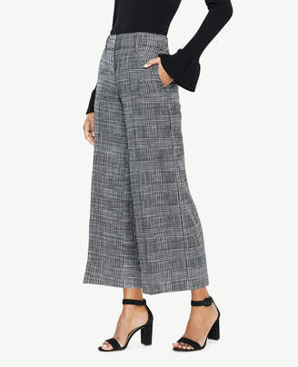 Ann Taylor The Tall Wide Leg Crop Pant in Herringbone