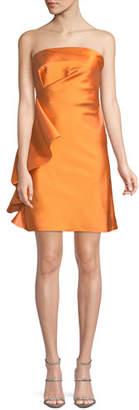 Sachin + Babi Ortakoy Strapless Side-Ruffle Mini Dress