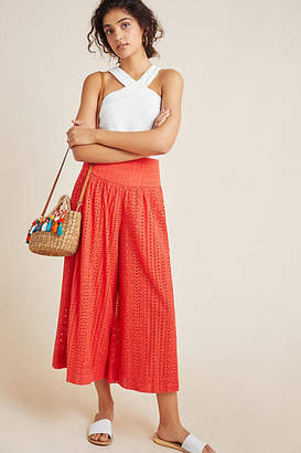 f4d9ccfb50f Anthropologie Eyelet Wide-Leg Pants