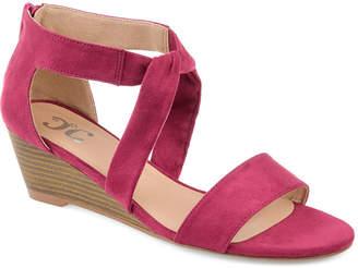 Journee Collection Womens Jc Mattie Pumps Zip Open Toe Wedge Heel
