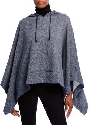 Michael Stars Hooded Fleece Ruana w\/ Kangaroo Pocket