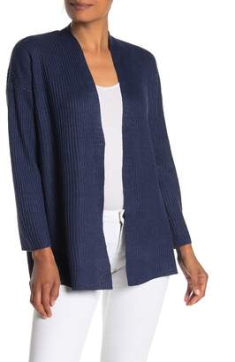 Eileen Fisher Angled Front Knit Cardigan