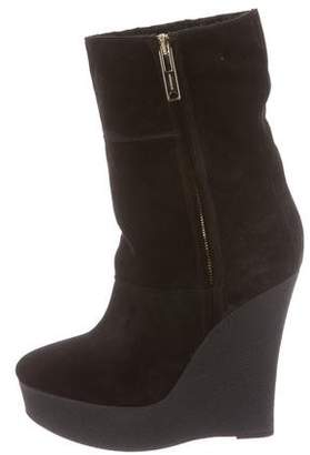 Burberry Shearling Wedge Boots