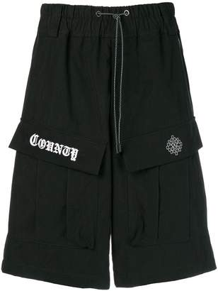 Marcelo Burlon County of Milan logo drawstring shorts