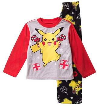 Pokemon AME Pikachu Holiday Fleece Pajama Set (Little Boys & Big Boys)