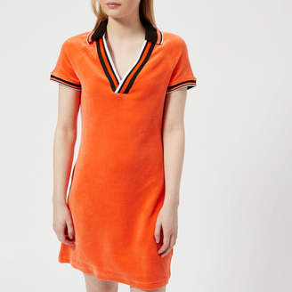 Juicy Couture Women's Stretch Velour Polo Dress