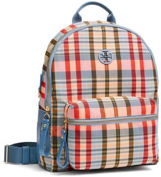 1ad1c50c82 Tory Burch TILDA PLAID NYLON ZIP BACKPACK