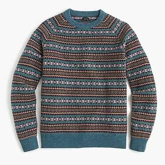 J.Crew Lambswool Fair Isle crewneck sweater in teal
