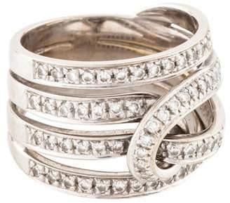 Stefan Hafner 18K Diamond Twist Ring