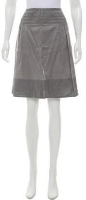 Burberry Smocked Knee-Length Skirt