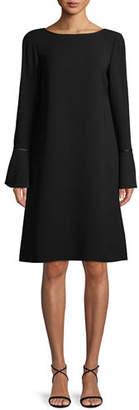 Lafayette 148 New York Jorie Long-Sleeve Crepe Shift Dress