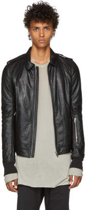 Rick Owens Black Blister Leather Rotterdam Jacket