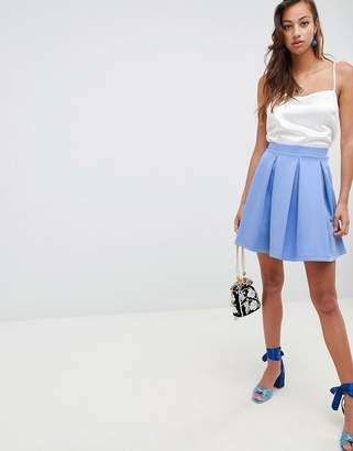 Asos DESIGN scuba box pleat mini skirt