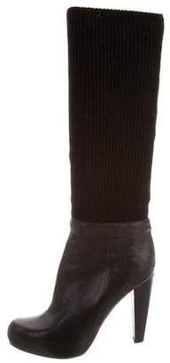 Loeffler Randall Leather Sock Boots