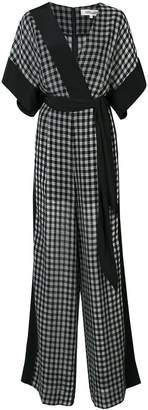 Diane von Furstenberg windowpane jumpsuit