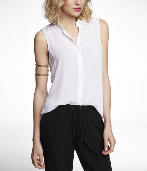 Express Sleeveless Crepe Blouse