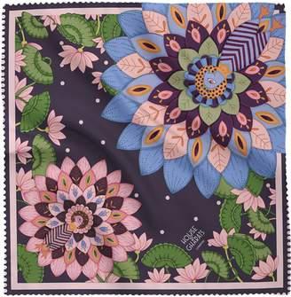 House of Gharats - Dance Of Divine Silk Neckerchief Purple