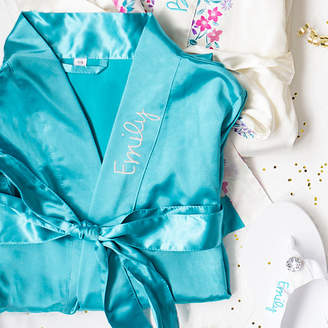 Cathy's Concepts CATHYS CONCEPTS Personalized Satin Womens Satin Kimono Robes