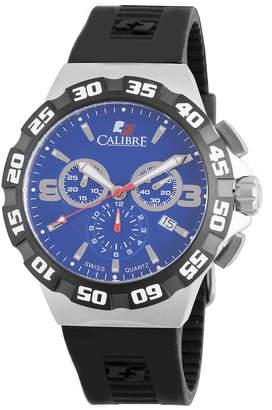 Lancer Calibre 44mm Men's Chronograph Watch w/ Rubber Strap, Blue