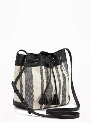 Striped Bucket Bag for Women $29.94 thestylecure.com