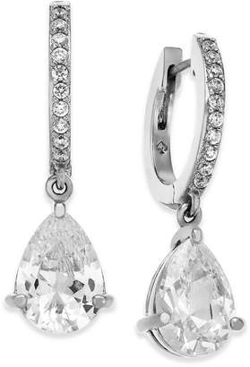 Kate Spade Crystal Huggie Hoop Drop Earrings