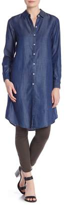 Foxcroft Front Button Long Sleeve Tunic