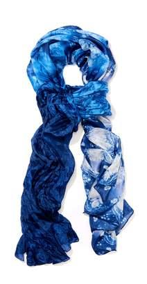 J.Mclaughlin Tyra Silk Scarf in Tie Dye Floral Batik