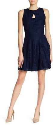 Gabby Skye Front Cutout Sleeveless Lace Dress