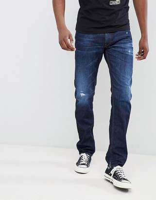 Love Moschino skinny jeans with distressing