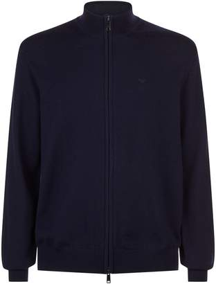 Emporio Armani Wool Zipped Sweater