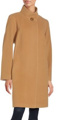 Cinzia RoccaLong Sleeve Mockneck Coat