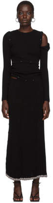 CHRISTOPHER ESBER Black Deconstruct Long Sleeve Dress