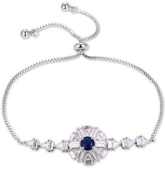 Tiara Cubic Zircona Color Cluster Bolo Bracelet in Sterling Silver