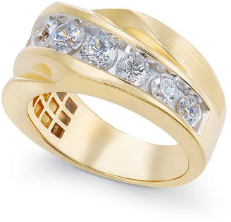 Macy's Diamond Twist Statement Ring (2 ct. t.w.) in 10k Gold