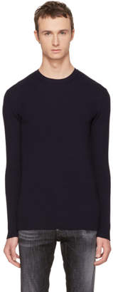 Diesel Black Gold Navy Wool Kui Sweater