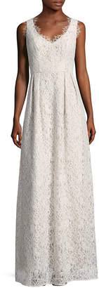 Shoshanna Solid Embroidered Lace Gown