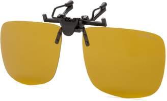 Eagle Eyes Clip On Sunglasses - Universal Square Design Polarized Lenses