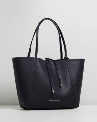 Armani Exchange Pebble PU Reversible Tote Bag