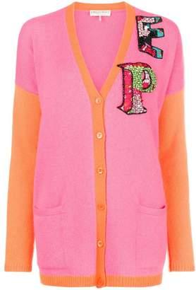 Emilio Pucci colour-block logo cardigan