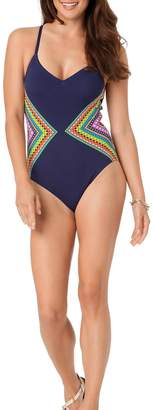 Anne Cole Signature Engineered Print Maillot