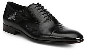 Giorgio Armani Men's Textured Patent Leather Lace-up Oxfords