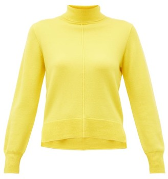 Sea Nora Side Slit Roll Neck Wool Sweater - Womens - Yellow