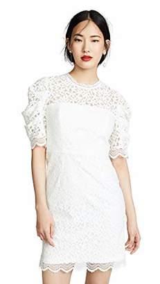 Milly Women's Floral Lace Short Sleeveless Kara Dress