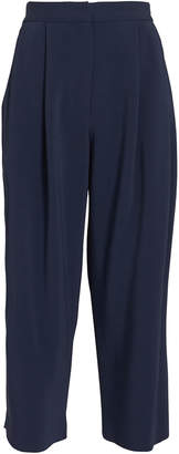 ADAM by Adam Lippes Cady Pleat Front Navy Culottes