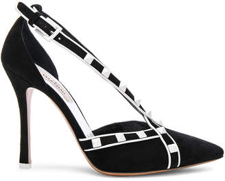 Valentino (ヴァレンティノ) - Valentino Free White Rockstud Heels